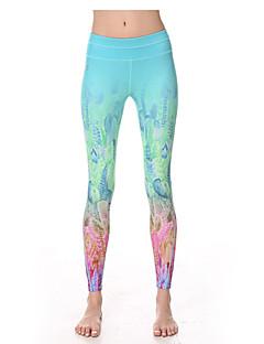 Yoga Pants Fundos Respirável / Secagem Rápida / wicking / Redutor de Suor Natural Stretchy Wear Sports Branco / Azul Mulheres Yokaland