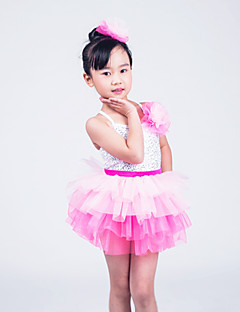 Kids' Dancewear Outfits Children's Performance Organza / Lycra Sequins As Picture Ballet / Modern Dance / PerformanceSpring, Fall,