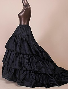 Slips Ball Gown Slip Chapel Train Floor-length 3 Polyester Black