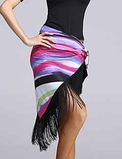 Latin Dance Hip Scarves Women's Performance Viscose Tassel(s) 1 Piece Hip Scarf L: 150  H:75