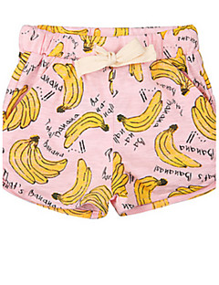 Girl's Shorts,Cotton Summer Pink / White