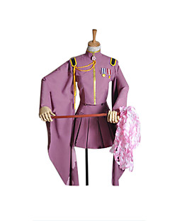 Inspired by Vocaloid Hatsune Miku Video Game Cosplay Costumes Cosplay Suits / Kimono Solid Purple Long SleeveCoat / Skirt / Hat / Gloves