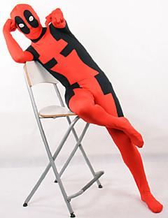 Cosplay Costumes Super Heroes Movie Cosplay Red Patchwork Leotard/Onesie Halloween / Christmas / New Year Kid Lycra
