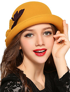 Women Wool Bowler/Cloche Hat,Vintage / Cute / Party / Work / Casual Spring / Summer / Fall / Winter / All Seasons