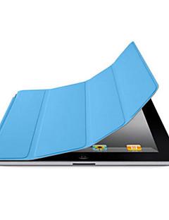 DF Solid Color Auto Sleep/Wake Up PU Folding Case for iPad 2/3/4