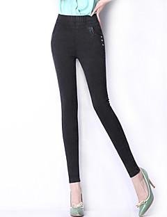 Casual-Polyester-Rekbaar-Skinny / Jeans-Broek-Vrouwen