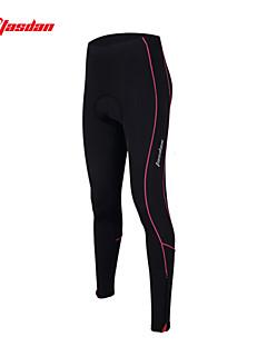 TASDAN מכנסי רכיבה לנשים אופניים מכנסיים טייץ רכיבה על אופניים נושם ייבוש מהיר 3D לוח רצועות מחזירי אור תומך זיעה ניילון אחידרכיבה על