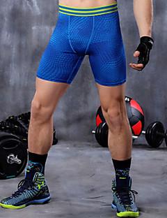 ריצה Suit דחיסה / תחתיות לגברים נושם / ייבוש מהיר / תומך זיעה / נמתח / דחיסה / מגביל חיידקים LYCRA® יוגה / כושר גופני / ריצה ספורטיבי