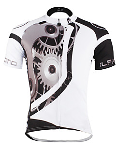 ILPALADINO Cycling Jersey Men's Unisex Short Sleeve Bike Jersey TopsQuick Dry Ultraviolet Resistant Breathable Compression Lightweight