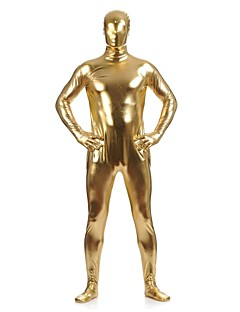 Shiny Zentai Suits Ninja Zentai Cosplay Costumes Golden Solid Leotard/Onesie / Zentai Spandex / Shiny Metallic UnisexHalloween /