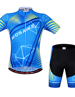Wosawe® Cycling Jersey with Shorts Unisex Short Sleeve BikeBreathable / Quick Dry / Anatomic Design / 3D Pad / Reflective Strips / Back