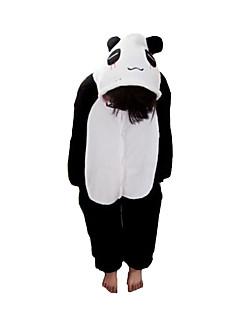 Kigurumi Pyjamas Panda Gymnastikanzug/Einteiler Fest/Feiertage Tiernachtwäsche Halloween Schwarz/Weiß Patchwork Flanell Kigurumi Für Kind