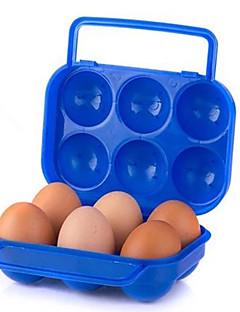 Doppel-Lock Eikasten bewegliche im Freien Picknick-Box mit Tragegriff Eier zufällige Farbe