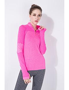 Mulheres Corrida Camiseta Blusas Respirável Secagem Rápida Redutor de Suor Primavera Verão Outono Moda EsportivaIoga Alpinismo Exercício