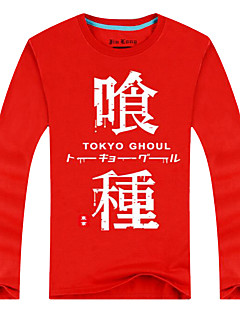 Inspired by Tokyo Ghoul Ken Kaneki Anime Cosplay Costumes Cosplay Tops/Bottoms Print Red Long Sleeve Top