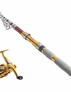 テレスピンロッド 釣り竿 + リール 釣り竿 テレスピンロッド カーボン 290 M 海釣り 釣り竿 + リール レッド-