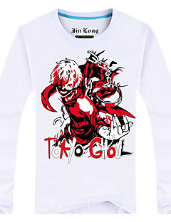 Inspired by Tokyo Ghoul Ken Kaneki Anime Cosplay Costumes Cosplay Tops/Bottoms Print White Long Sleeve Top