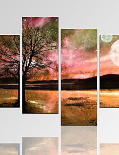 Abstrait / Architecture / Photographie / Moderne / Romantique / Fantaisie / Loisir / Paysage Toile Quatre Panneaux Prêt à accrocher,