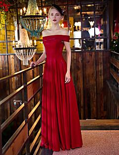 Serata formale Vestito A tubino Drappeggiata Lungo Raso / Raso elasticizzato con