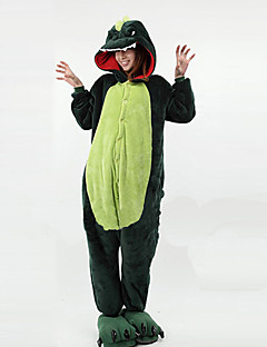 Kigurumi Pajamas New Cosplay® / Dinosaur Leotard/Onesie Festival/Holiday Animal Sleepwear Halloween Green Patchwork Polar Fleece Kigurumi