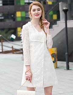 Zishangbaili® Dame Skjortekrage Langt Erme Skjorte og bluse Ivory-XZ51003