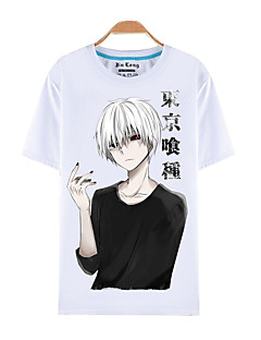 Inspired by Tokyo Ghoul Ken Kaneki Anime Cosplay Costumes Cosplay T-shirt Print White Short Sleeve Top / T-shirt