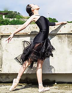 Danse classique Robes Femme Spectacle Elasthanne Ruché Ruchés plongeants 1 Pièce Sans manche La moitié des manches Robe