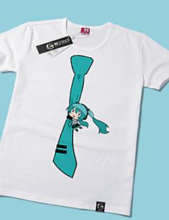Inspirovaný Vocaloid Hatsune Miku Anime Cosplay kostýmy Cosplay T-shirt Tisk Żółty Krátké rukávy Trička
