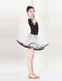 Kids' Dancewear Dresses Women's Performance Spandex / Satin Ruched / Sash/Ribbon 1 Piece Half Sleeve Dress XXS:57CM,XS:60CM,S:63CM,L:66CM
