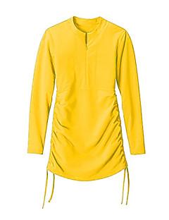 Femme Costumes humides Anti Irritation Etanche Résistant aux ultraviolets Tactel Tenue de plongée Manches longuesTee-shirts anti-UV, tops