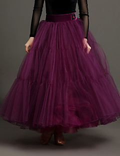 High-quality Tulle and Velvet with Pleated Performance Skirts for Women's Performance(More Colors)