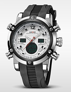 WEIDE® Men's Brand Luxury Analog & Digital Double Time Black Rubber Quartz Watch Cool Watch Unique Watch Fashion Watch
