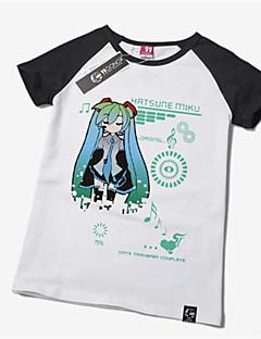 Inspirado por Vocaloid Hatsune Miku Anime Fantasias de Cosplay Cosplay T-shirt Estampado Amarelo Manga Curta Japonesa/Curta