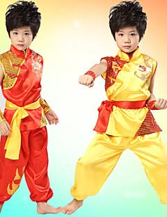 Optredens Outfits Kinderen Prestatie Satijn Sjerpen/Strikken 3-delig Mouwloos Broeken / Bovenkleding / RiemXS:41cm S:44cm M:48cm L:51cm
