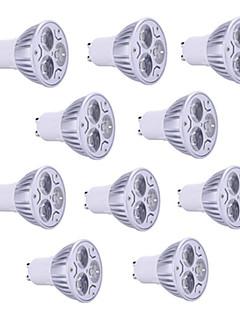 9W GU10 LED-spotpærer PAR38 3 Høyeffekts-LED 900 lm Varm hvit / Kjølig hvit / RGB Dekorativ AC 85-265 V 10 stk.