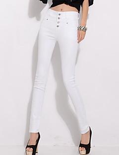 Kvinner Plusstørrelser / Fritid Tettsittende Bukser Polyester Mikroelastisk