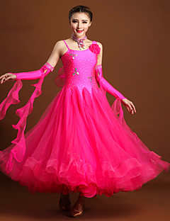 High-quality Spandex and Tulle with Rhinestones and Flower(s) Performance Dresses for Women's Performance(More Colors)