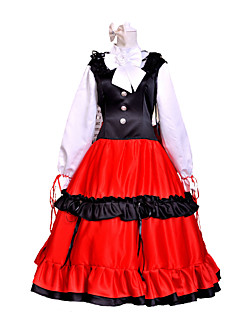 Inspired by Hetalia Hungary Elizaveta Héderváry Anime Cosplay Costumes Cosplay Suits Patchwork Black / Red Long Sleeve Dress / Headpiece