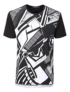 Sieben Brand® Herren Rundhalsausschnitt Kurze Ärmel T-Shirt Weiß-702T548780