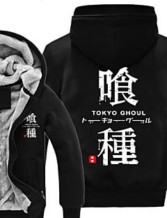"""Inspirert av Tokyo Ghoul Ken Kaneki Anime  """"Cosplay-kostymer"""" Cosplay gensere Trykt mønster Langermet Topp Til Unisex"""