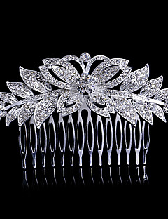 12*6cm Hair Combs with Flower Butterfly Crystal for Lady Wedding Party