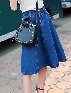 Damen Röcke - Leger Knielang Polyester Mikro-elastisch