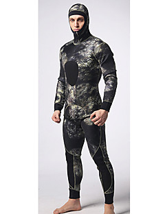 MYLEGEND® לגברים 5mm חליפות רטובות Wetsuits מלא עמיד למים שמור על חום הגוף לביש רוכסן YKK ניילון ניאופרן חליפת צלילה חליפות צלילה-שחייה