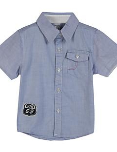 ボーイの コットン シャツ,幾何学模様 夏
