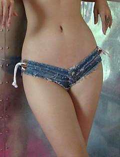 Sexig / Nattklubb Shorts / Jeans Byxor Kvinnors Microelastisk Bomull