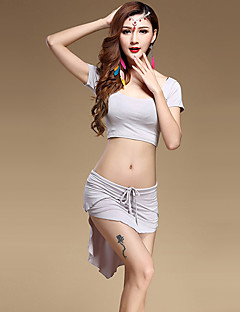 ריקוד בטן תלבושות בגדי ריקוד נשים ביצועים מודאלי עטוף 2 חלקים חצאית / עליוןTops length M:30cm / L:32cm Skirt length M:28-48cm / L:30-50cm