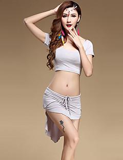 Belly Dance Outfits Women's Performance Modal Draped 2 Pieces Top / SkirtTops length M:30cm / L:32cm Skirt length M:28-48cm / L:30-50cm