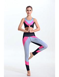 Ioga Conjuntos de Roupas/Ternos Secagem Rápida / Redutor de Suor / Suave / Materiais Leves Elasticidade Alta Wear Sports Mulheres-
