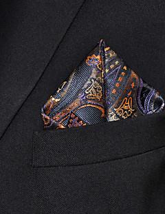 Men Paisley Multicolor 100% Silk  Pocket Square Business Fashion