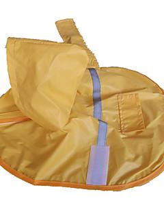 Dog Rain Coat Yellow Dog Clothes Spring/Fall Waterproof